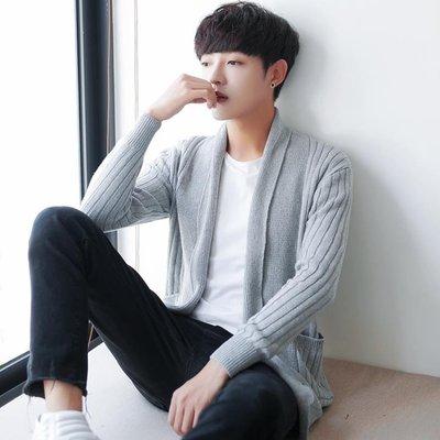 男士毛衣開衫2018夏 韓版青年外穿針織開衫修身潮流夏裝長袖外套