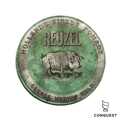 【 CONQUEST 】Reuzel Green Grease Pomade 綠豬 綠色 豬油 油性髮油 蘋果薄荷香