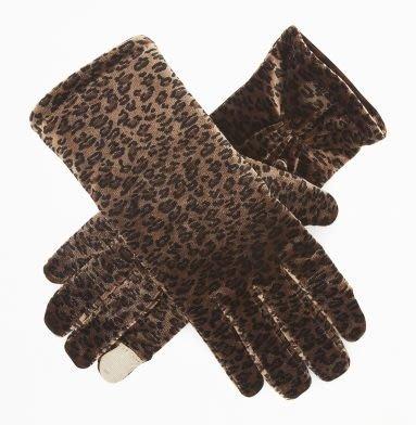 破盤出清大降價!全新 Kenneth Cole 咖啡色動物花紋 3M 材質可划手機手套,低價起標無底價!