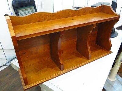 ~新北大~A26~1 柚木色實木2.6尺壁櫃 展示架 杯盤架 收納櫃 置物架 書架壁櫃 牆