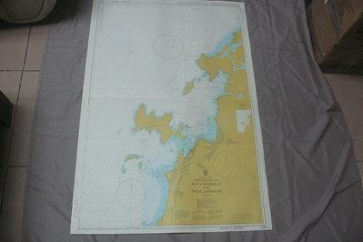 藍色小館46-DEPTHS IN METRES航海圖-APPROACHES TO KOTA KINABALU AND
