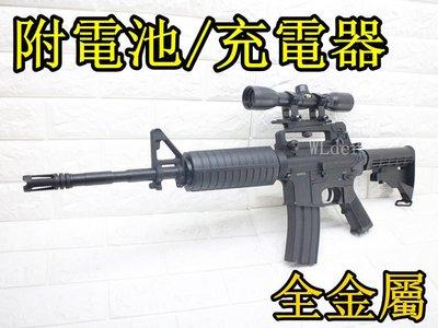 [01] DIBOYS M4A1 電動槍 狙擊版(倍鏡狙擊鏡瞄準鏡BB槍BB彈M16玩具槍狙擊槍M4卡賓槍AR步槍416