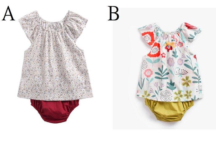 現貨~新生兒童裝夏 ins 純棉印花嬰童兩件套碎花T恤三角褲嬰兒套裝歐美
