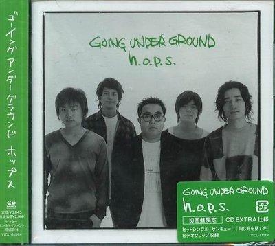 K - GOING UNDER GROUND - h.o.p.s.- hops 日版 CD+VIDEO NEW