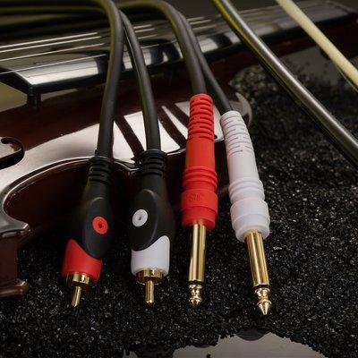 一點生活 金三角雙蓮花轉雙6.5線 雙RCA轉雙6.5音頻線 調音臺功放音頻線