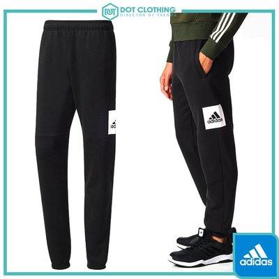 DOT聚點 adidas Essentials Logo Pants 黑白 方框 棉褲 運動 長褲 縮口 BP5440
