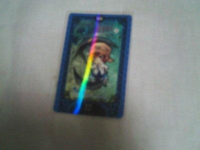 三采 飯卡/Kine 票貼 海妖「揮舞鐮刀的神祕少女」尼克,超閃光塔羅牌票貼(死神牌)