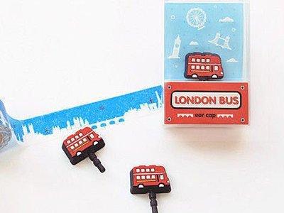 Norns 韓系 巴士造型 Ear Cap -London Bus 耳機孔防塵塞iphone htc ipad 等適用