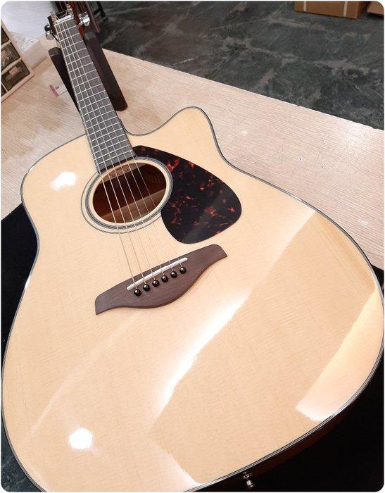 ♪♪學友樂器音響♪♪ YAMAHA FGX800C 電木吉他 民謠吉他 雲杉面單板 切角 拾音器
