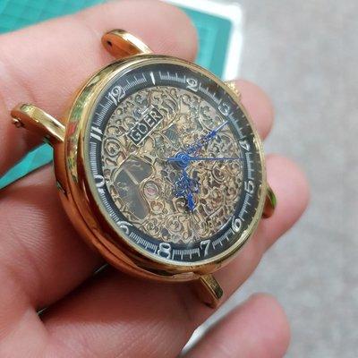 <行走順暢>簍空 大金錶 早期好貨 簍雕 漂亮 大錶徑 可遇不可求 機械錶 另有 OMEGA SEKIO TELUX G08 潛水錶 賽車錶 老錶 男錶