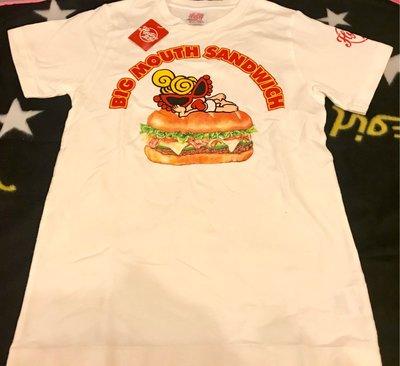 全新 日本 正版 Hysteric Mini Tee T-shirt 短袖 tee 小童 kids 漢堡包 Hamburger