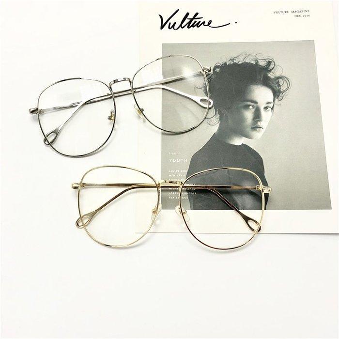 原宿復古眼鏡框素顏大框平光眼鏡金屬男女眼鏡架潮流三角衣櫥