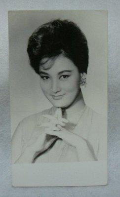 女明星 黑白老照片 8.5cmx15.3cm