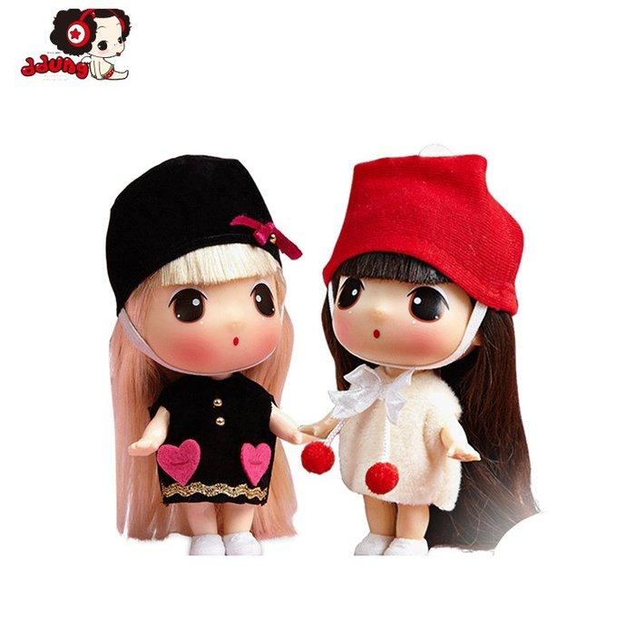 奇奇店-冬己迷糊娃娃換裝女孩公主玩偶迷你可愛萌娃娃人偶娃娃生日禮物(規格不同價格不同喔)