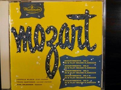 Leach,Ohlberger ~ Mozart莫扎特 - Divertimento No.1~5,如新,日本版。