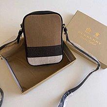 $299- bag phone case  B 原單天然防水黄麻料x 牛皮 mini 斜背包 手機包 袋 手袋 全套包裝 男女合用 men  低價促銷 没折