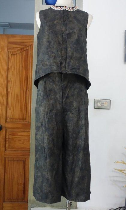 [C.M.平價精品館]L碼現貨/好穿時尚前隱形拉鏈雙口袋彈性寬版褲