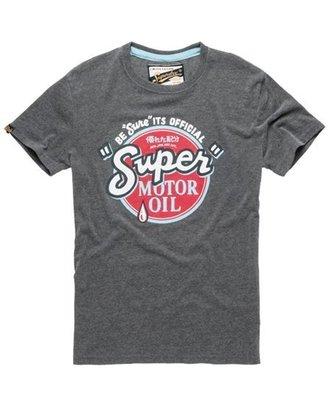 極度乾燥 Superdry Oil Rework T-Shirt 復古裂紋 圖騰 短袖 T恤 上衣 A&F 深灰 現貨
