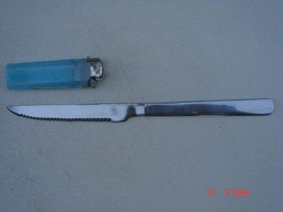 東昇瓷器餐具=不鏽鋼素面牛排刀