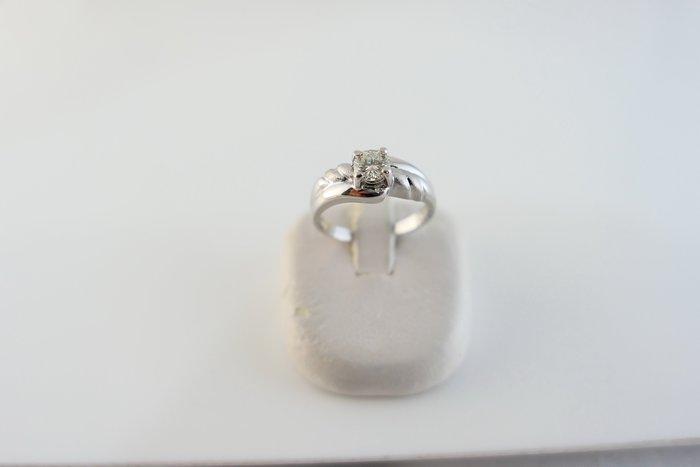 [吉宏精品交流中心]32分 天然鑽石 白K金 造型 戒指(公關禮物)