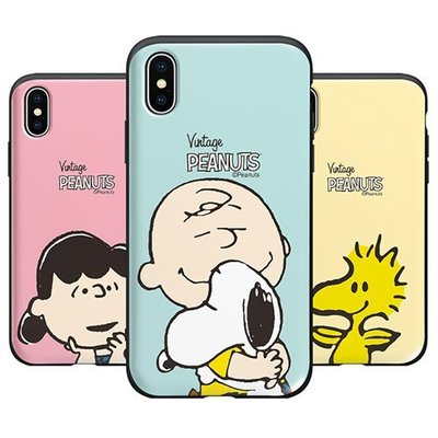 SNOOPY 史努比 防摔推蓋卡夾 手機殼│Note5 Note8 Note9 Note10│z9003