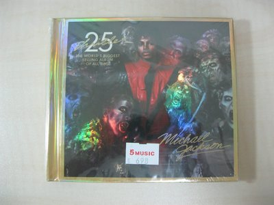 CD+DVD/全新未拆封/麥可傑克森Michael Jackson/顫慄Thriller/25週年精裝別冊限量珍藏版