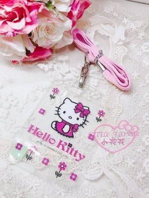 ♥小公主日本精品♥ 出清價HelloKitty 凱蒂貓粉紅色織帶證件套組 透明卡套證件套 悠遊卡套 一卡通