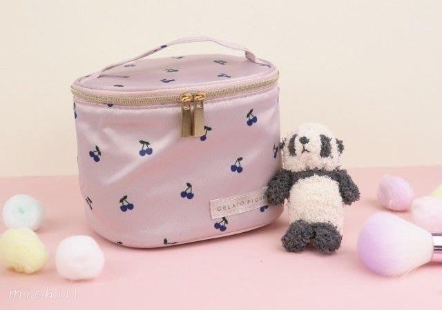 【秘密閣樓】日本SWEET雜誌附錄 GELATO PIQUE 小熊貓吊飾 櫻桃手提化妝包 普通版 日本代購