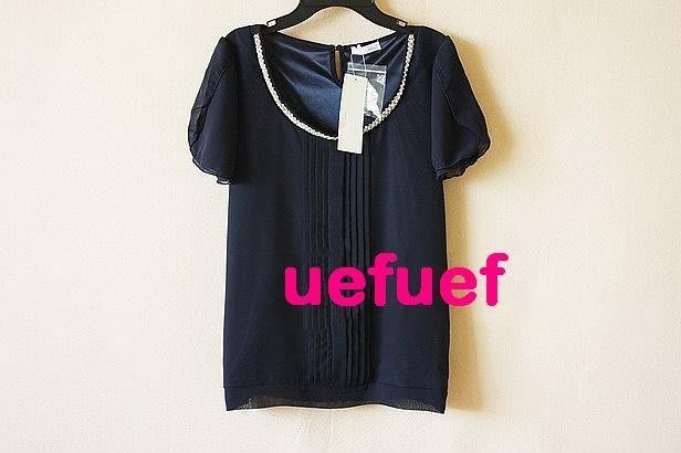 ☆UeF☆日本正品貴牌index馬卡龍色質感雪紡衫(新)