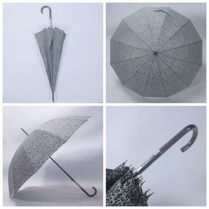 奇奇店-12骨水晶傘柄時裝流行時尚豹紋晴雨傘#加固 #小清新 #晴雨兩用