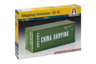 ITALERI 1/24 CHIAN SHIPPING 中國航運 P&O 20ft 貨運集裝箱 3888