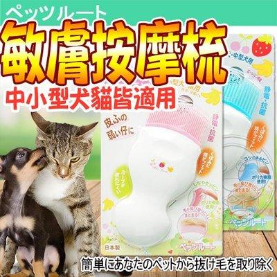 【🐱🐶培菓寵物48H出貨🐰🐹】沛滋露》水果村系列敏膚按摩梳-中.小型犬貓用 特價499元