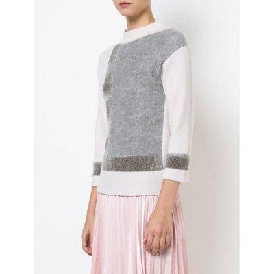 原價$35800 國內罕見 D.Exterior 奶茶白色塊毛衣