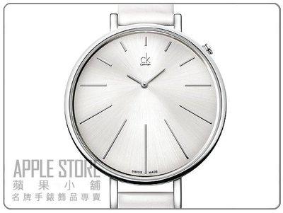 【蘋果小舖】CK Calvin Klein Equal 時尚皮帶名媛皮帶錶- 白 # K3E231L6