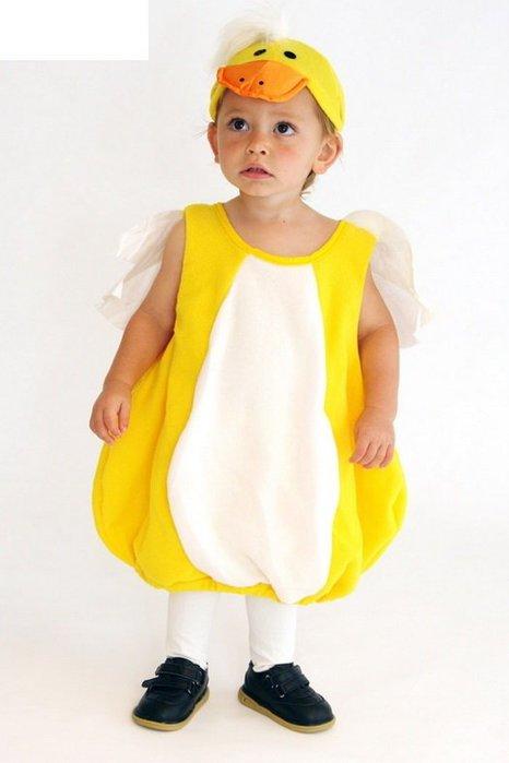 萬聖節服裝,萬聖節裝扮,可愛動物裝,兒童變裝服-可愛小黃鴨/小鴨裝