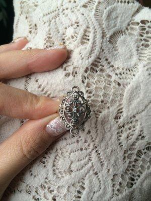 ANNA SUI 純銀 蕾絲造型戒指