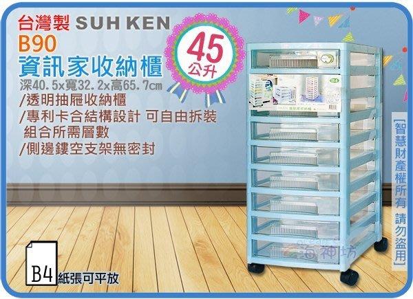 海神坊 製 SUHKEN B90 資訊家收納櫃 九層櫃 收納箱 抽屜整理箱 分類 B4文件