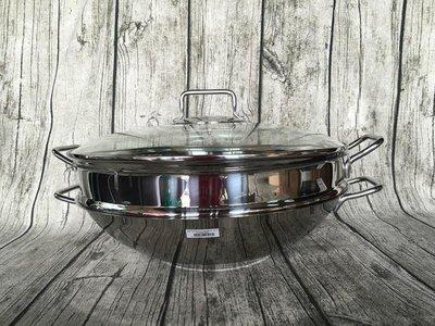 WMF Macao 中華炒鍋,不鏽鋼炒鍋 36cm 4件組