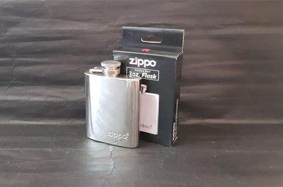 ONE*$1~美國ZIPPO*口袋型隨身『鏡面酒壺3oz』約88CC 耐腐鋼 *編號:122228*附贈:金屬漏斗