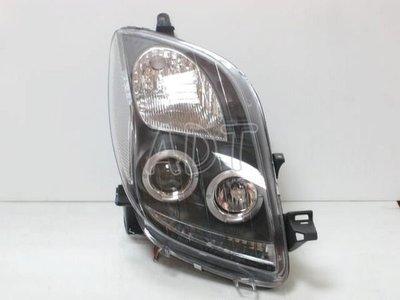 ~~ADT.車燈.車材~~豐田TOYOTA YARIS VITZ 05~08 光圈魚眼黑底大燈一組4500  SONAR製造