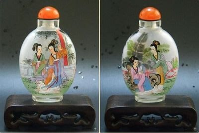 仕女圖中國風工藝禮品出國小禮品中國風家居擺件外事商務禮品內畫鼻煙壺 壺說64