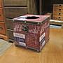 仿舊工業風面紙盒  仿舊印刷品面紙盒 彩圖皮...