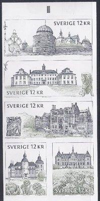 2010年瑞典城堡自黏郵票booklet
