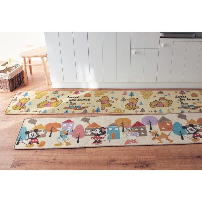 迪士尼DISNEY《預購》豐富色彩 多尺寸 防滑廚房地墊(44x120cm)~米奇 維尼~日本正品~共2款~心心小舖
