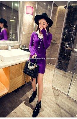 韓品連衣裙(紫色) J-11604