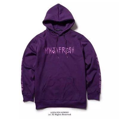 【Result】Ninja fresh Purple 刺繡 帽tee 經典 黑/紫
