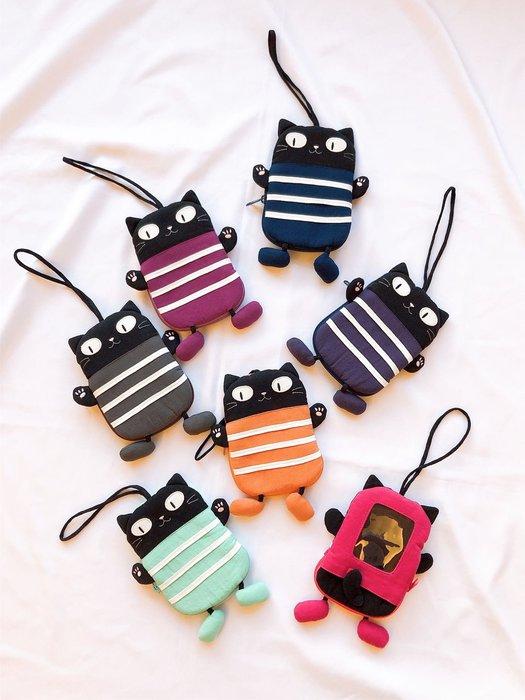 日本卡拉貓~小黑貓卡片鑰匙包 票夾