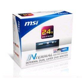 MSI 微星 DH-24AS 24x 內接式 DVD-RW 燒錄機(全新商品)