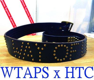 BALCK近全新WTAPS x RATS x HTC手工鉚釘WAY OF LIFE雕花皮帶