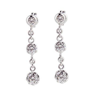 【JHT金宏總珠寶/GIA鑽石專賣】 天然垂墜鑽石耳環/材質:14K(JB50-A12)